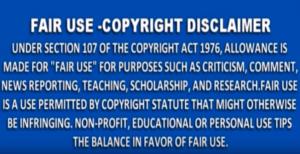 Fair Use Copyright Disclaimer