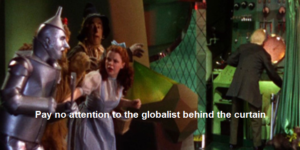 globalist behind the curtain