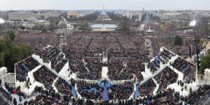Real Trump inauguration crowd
