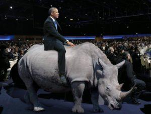Obama Rides RINO