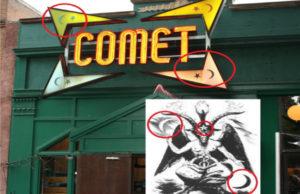 Comet Pizza Satanic