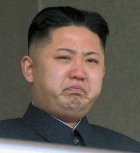 Angry Kim Jung-un