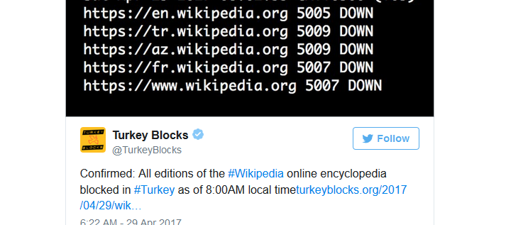Wikipedia blocked by Turkish government: A glimpse of what is coming to the West?