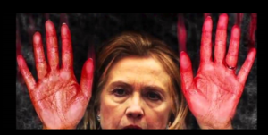 Hillary Blood on Hands