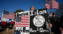 Anti-Sharia Protest in Richardson Texas