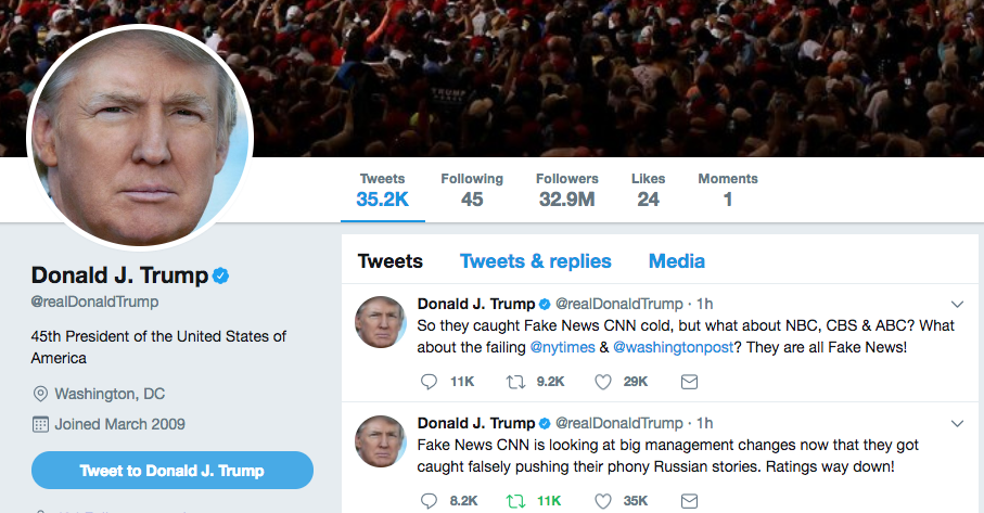 Trump Tweets CNN
